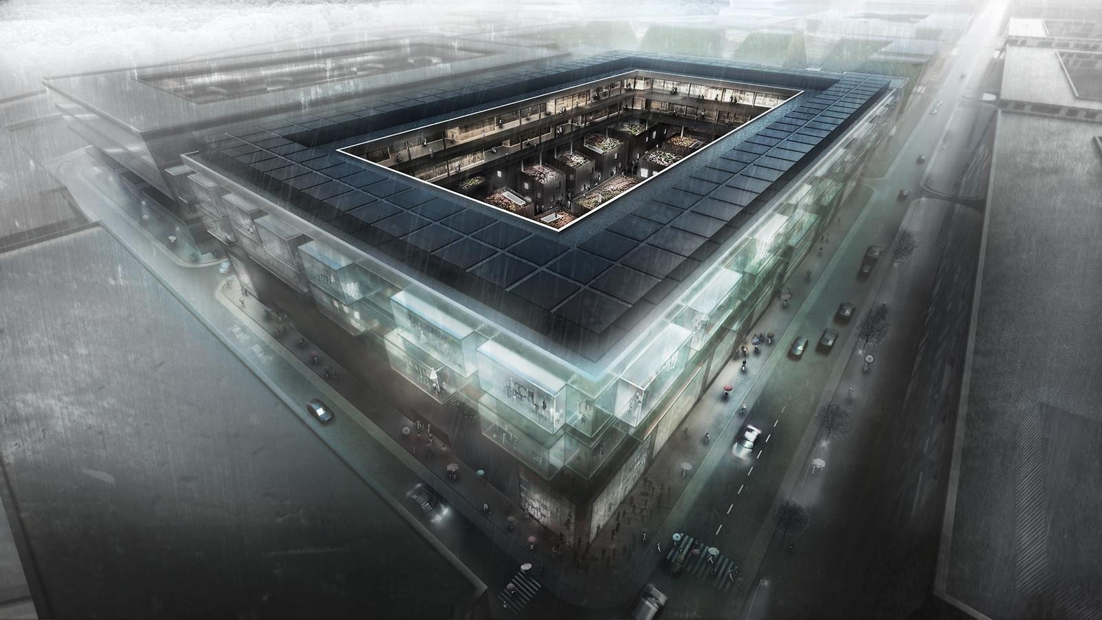 Ruichang Flower Market Buildings